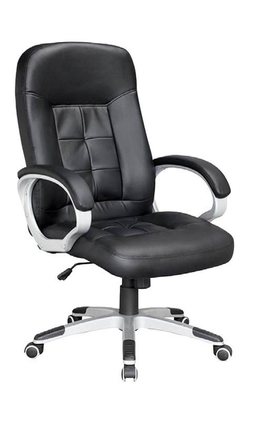 Компьютерное кресло Джек/Экокожа черная