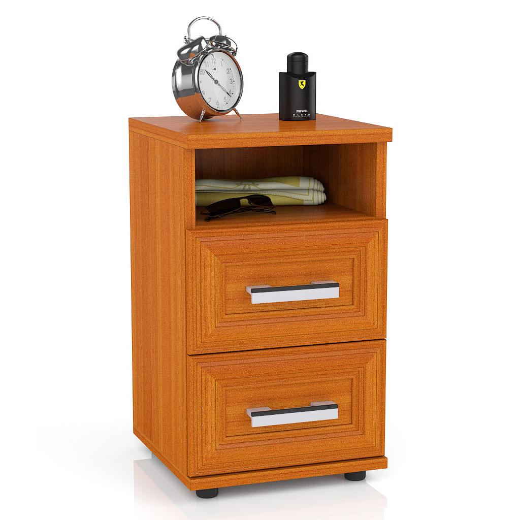 Тумба прикроватная приставная Мебельный Двор МД 5646010 34х34х59 см, вишня фото