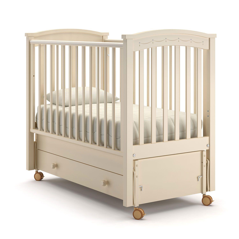 Купить Детская кровать Nuovita Perla Solo Swing слоновая кость, Классические кроватки
