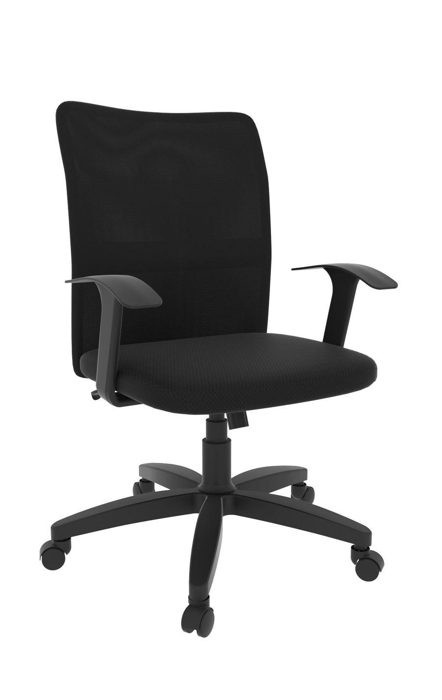Офисное кресло Leo B black/Ткань сетка чёрная