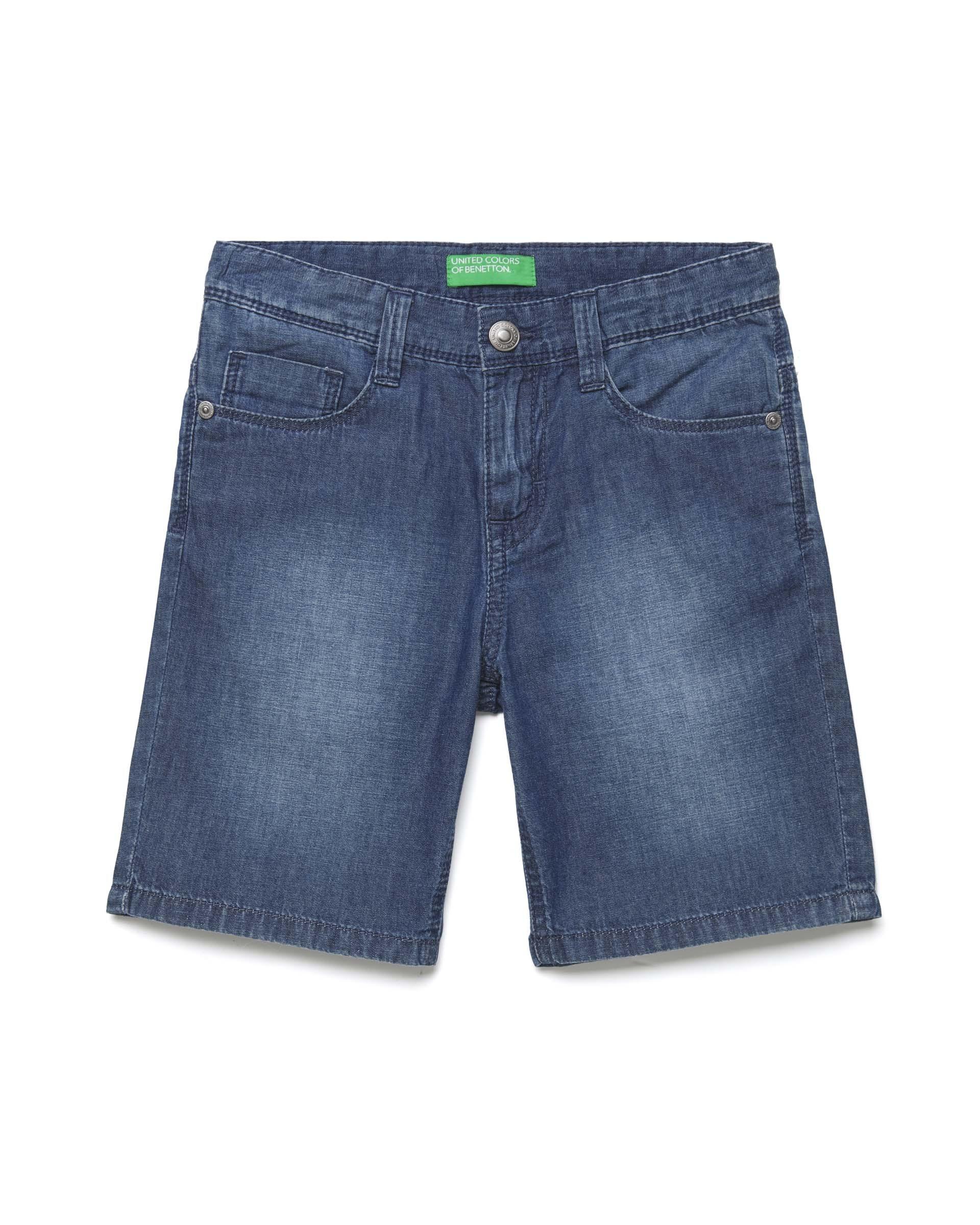 Купить 20P_4DHJ59CG0_901, Джинсовые шорты для мальчиков Benetton 4DHJ59CG0_901 р-р 128, United Colors of Benetton, Шорты для мальчиков