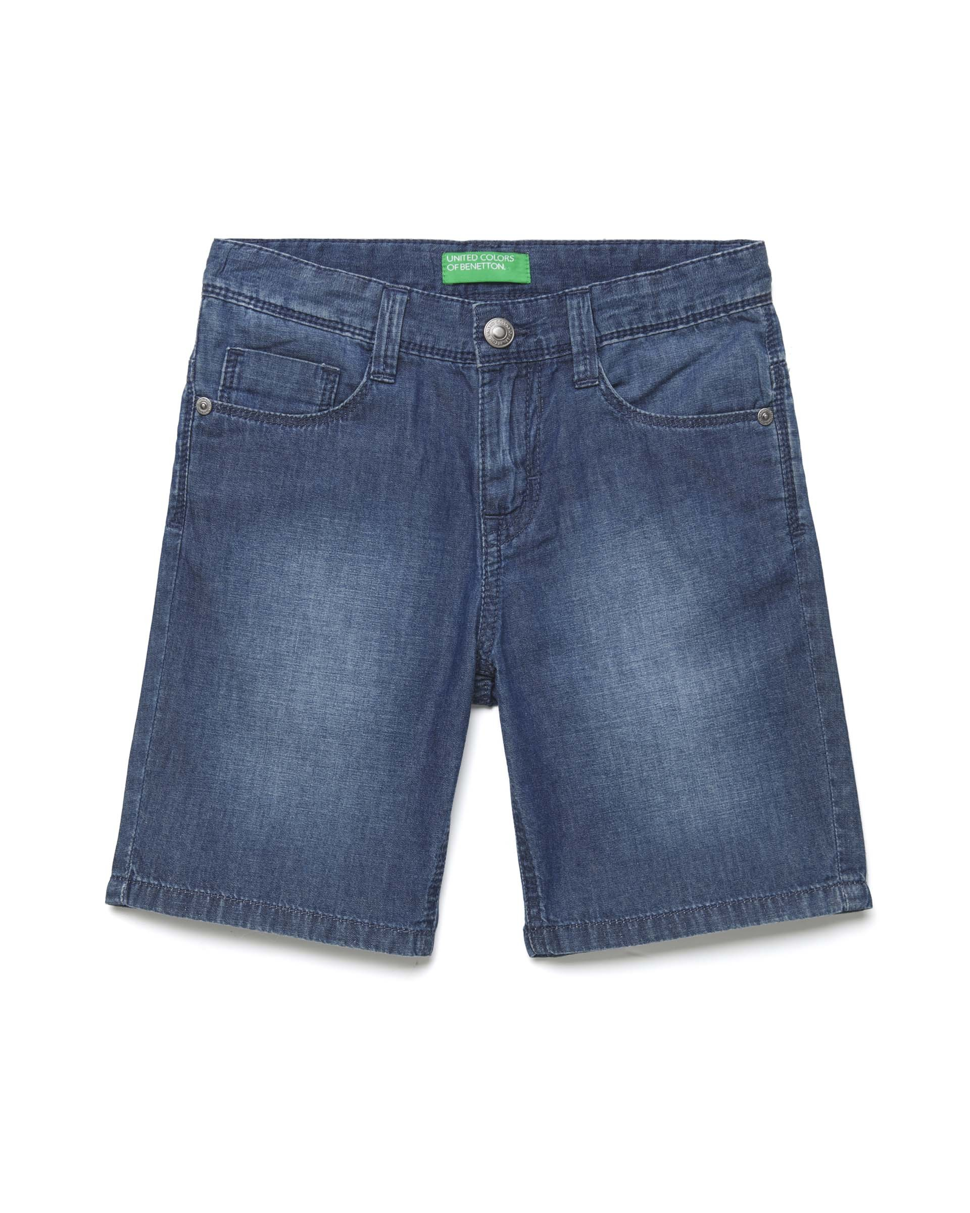 Купить 20P_4DHJ59CG0_901, Джинсовые шорты для мальчиков Benetton 4DHJ59CG0_901 р-р 152, United Colors of Benetton, Шорты для мальчиков