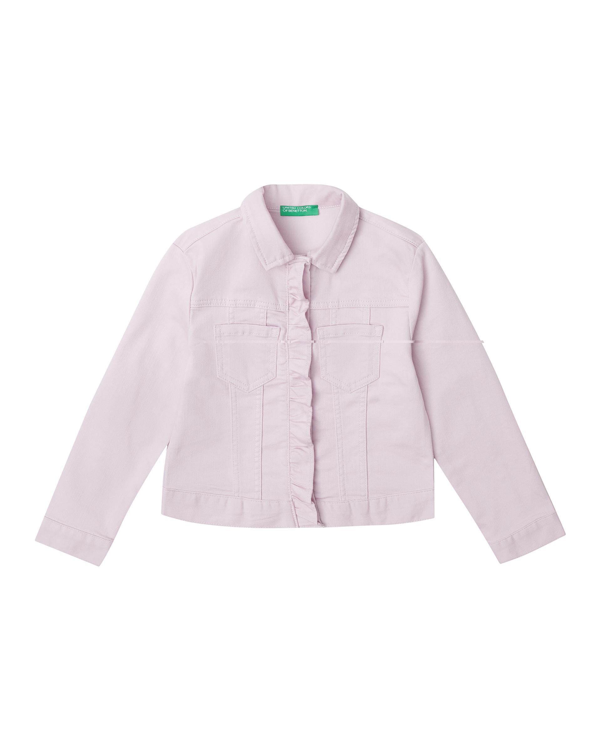 20P_2HB553I30_07M, Джинсовая куртка для девочек Benetton 2HB553I30_07M р-р 140, United Colors of Benetton, Куртки для девочек  - купить со скидкой