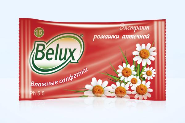 Влажные салфетки Белюкс / Belux с ромашкой, 15 шт