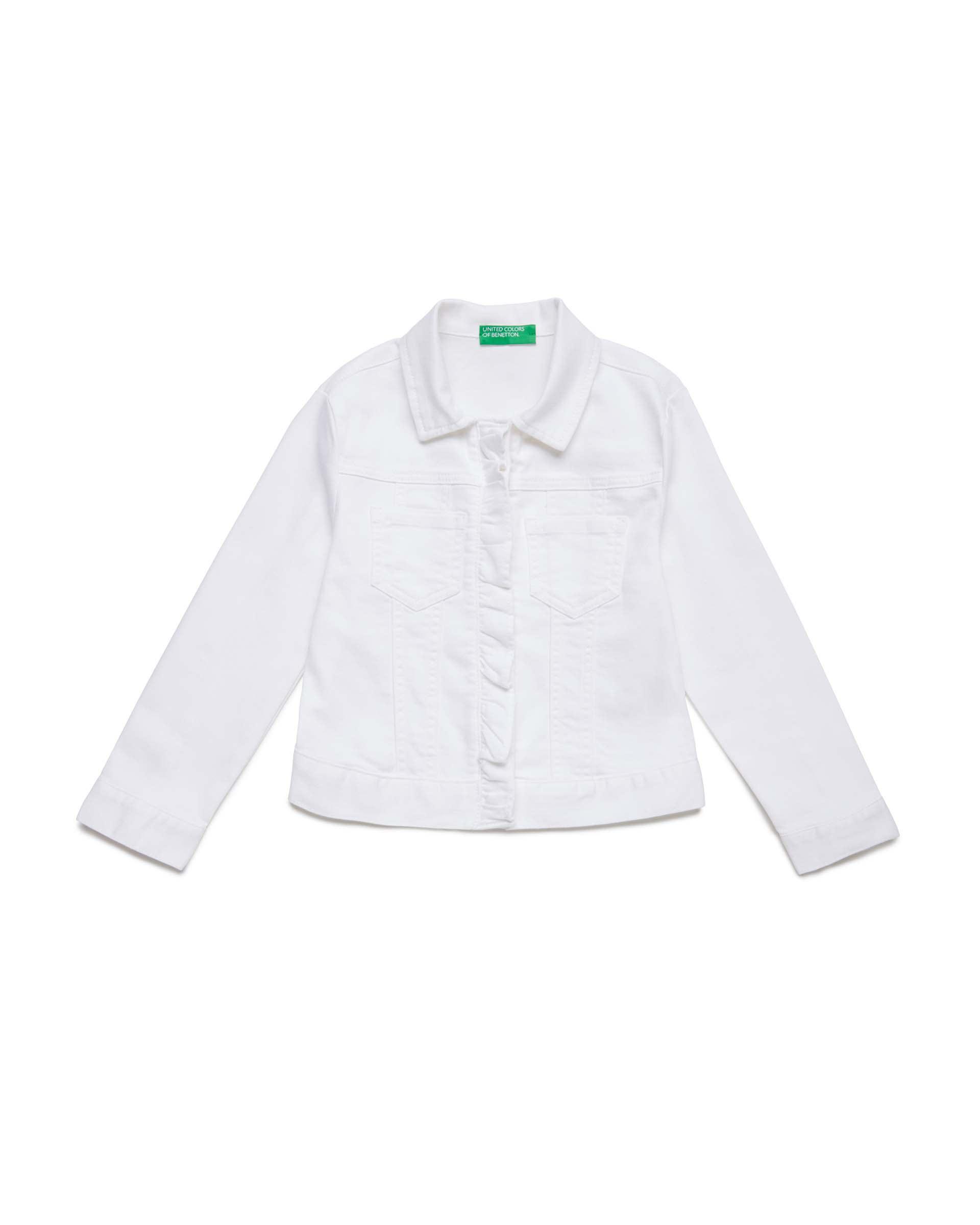 Купить 20P_2HB553I30_101, Джинсовая куртка для девочек Benetton 2HB553I30_101 р-р 158, United Colors of Benetton, Куртки для девочек