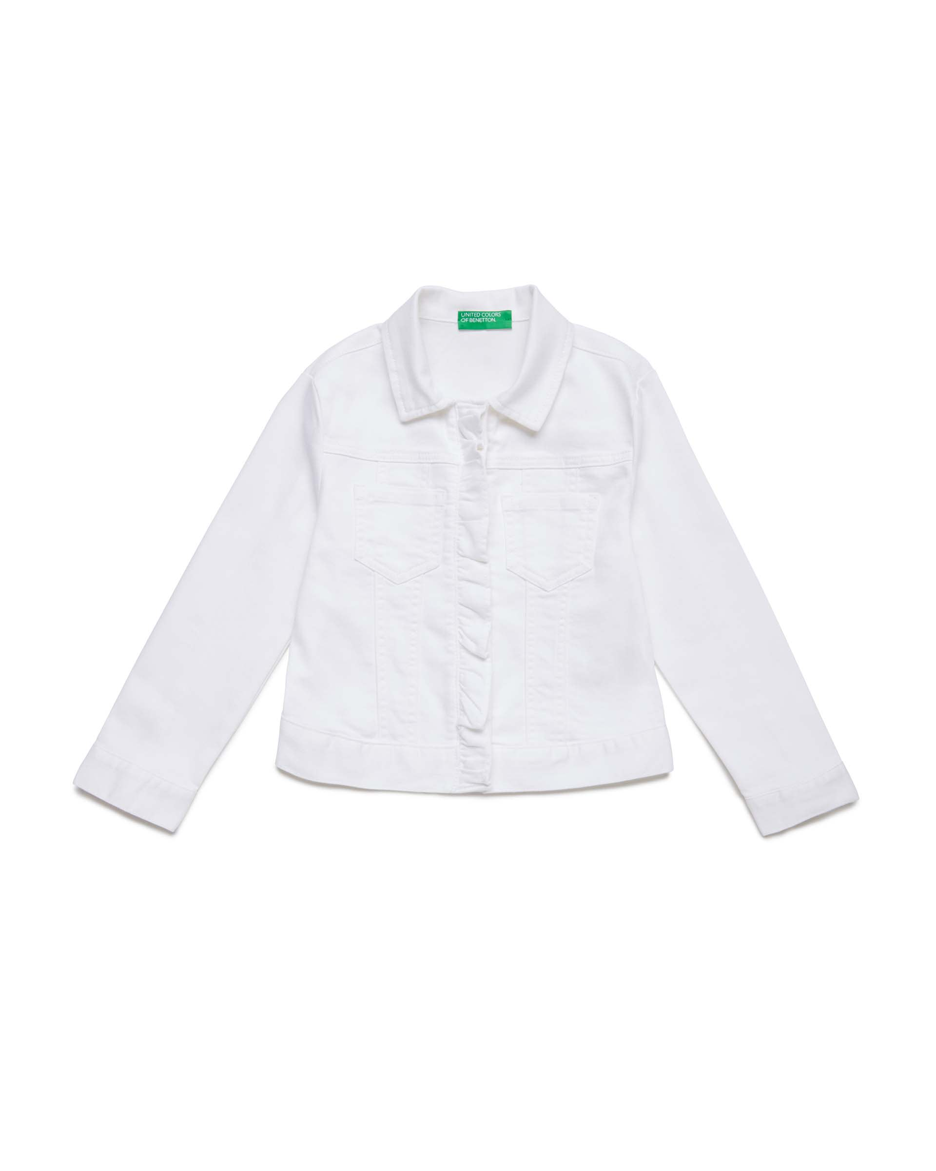 Купить 20P_2HB553I30_101, Джинсовая куртка для девочек Benetton 2HB553I30_101 р-р 170, United Colors of Benetton, Куртки для девочек