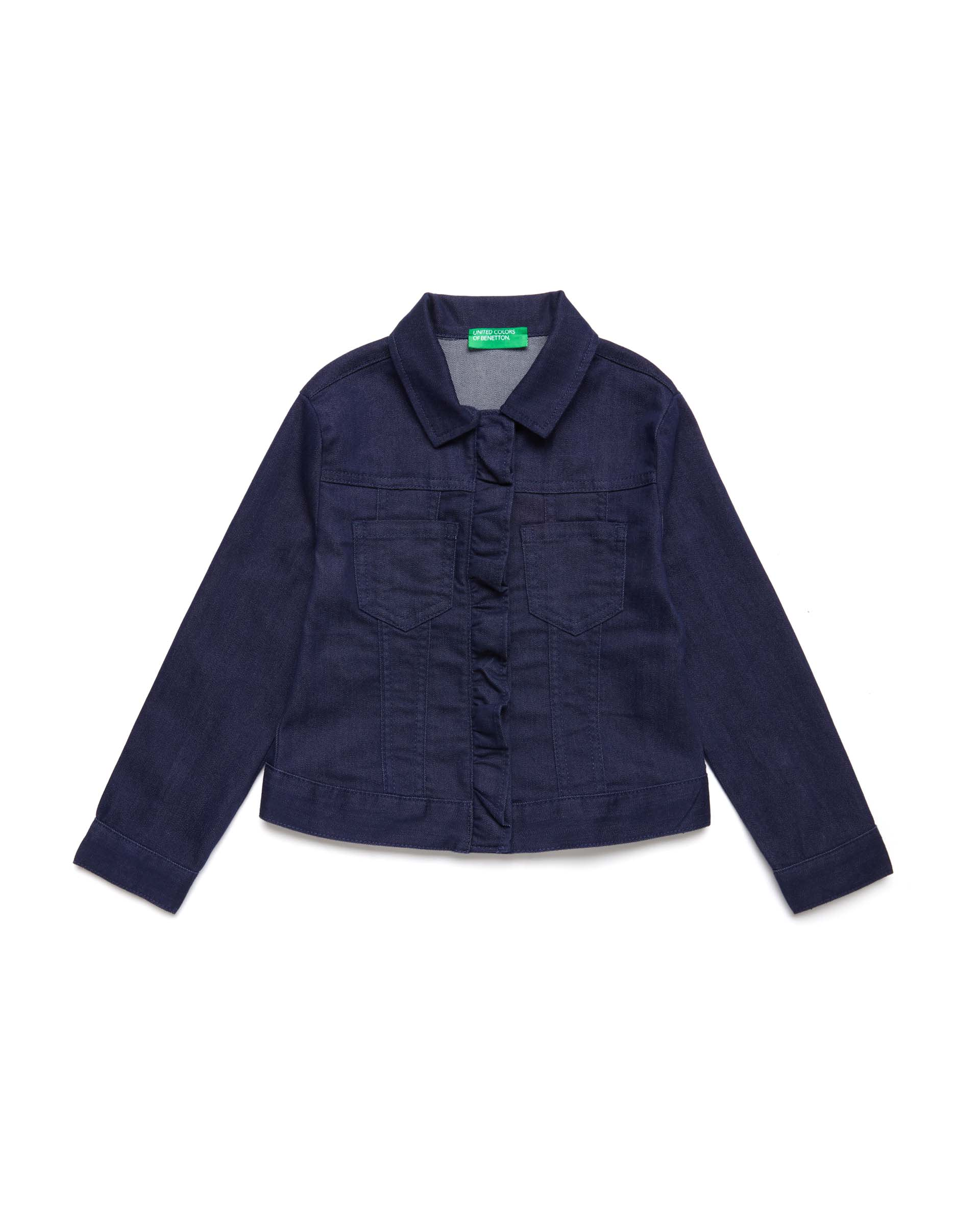 Купить 20P_2HB553I30_252, Джинсовая куртка для девочек Benetton 2HB553I30_252 р-р 122, United Colors of Benetton, Куртки для девочек