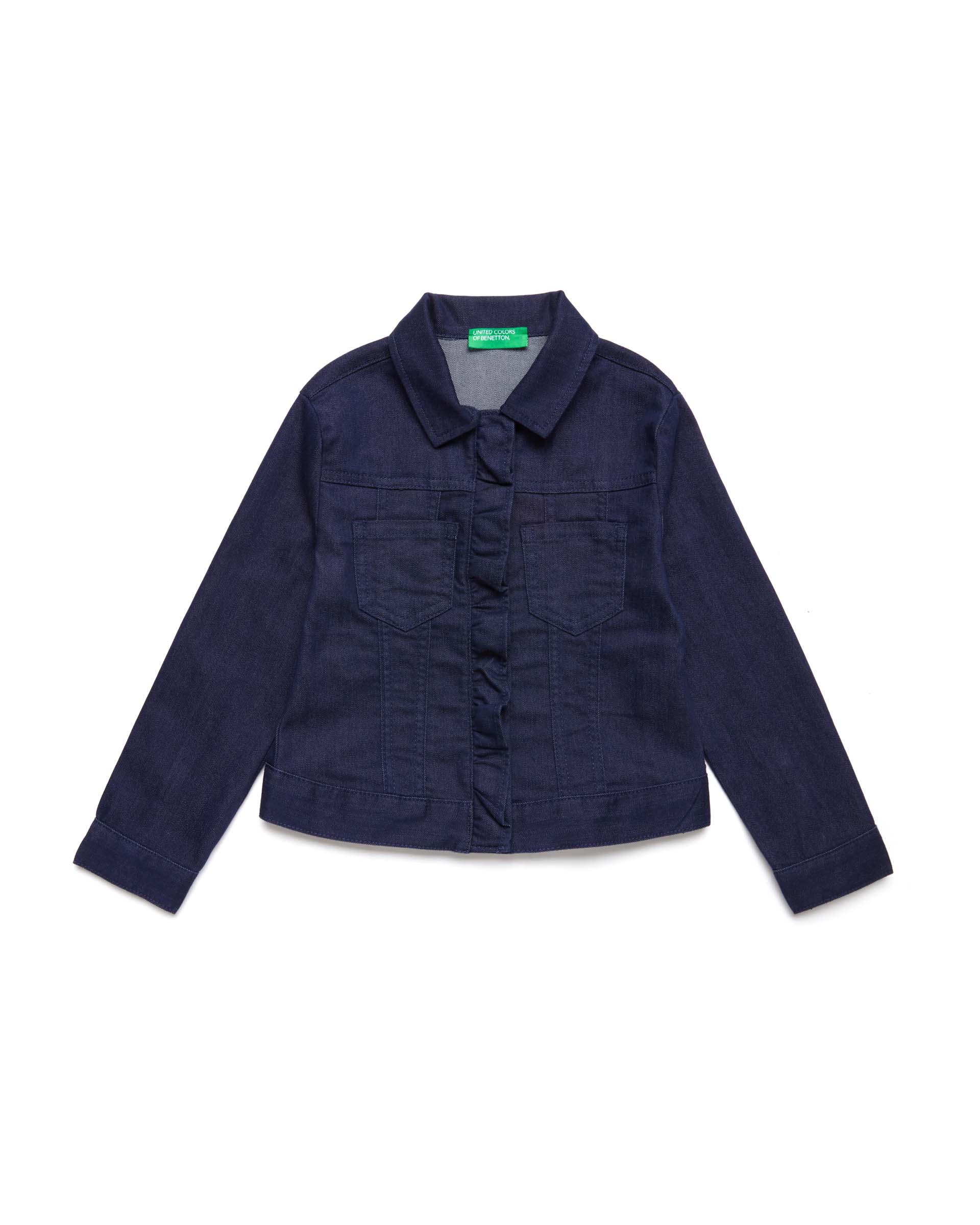 Купить 20P_2HB553I30_252, Джинсовая куртка для девочек Benetton 2HB553I30_252 р-р 140, United Colors of Benetton, Куртки для девочек