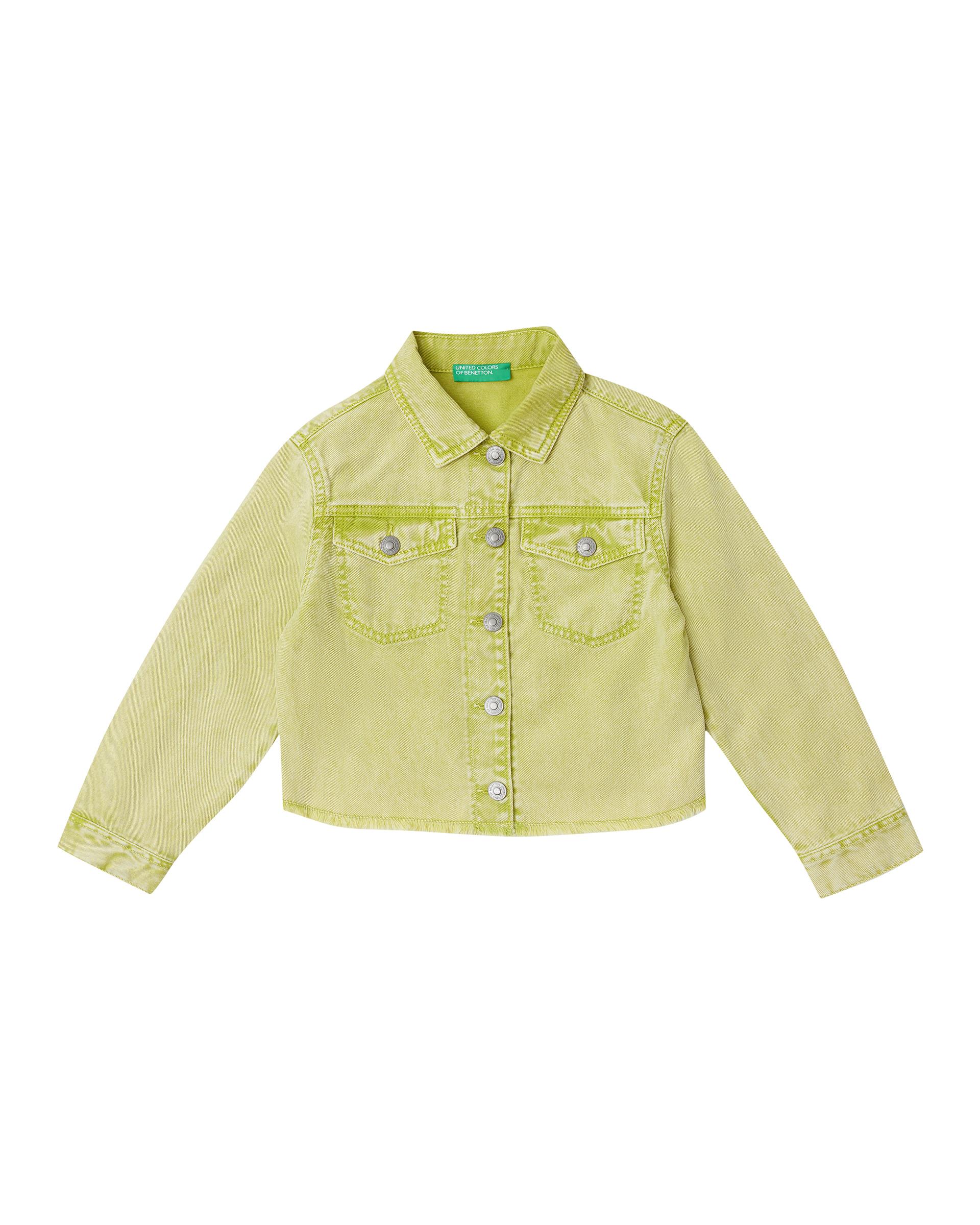 Купить 20P_2PL353HW0_902, Джинсовая куртка для девочек Benetton 2PL353HW0_902 р-р 140, United Colors of Benetton, Куртки для девочек