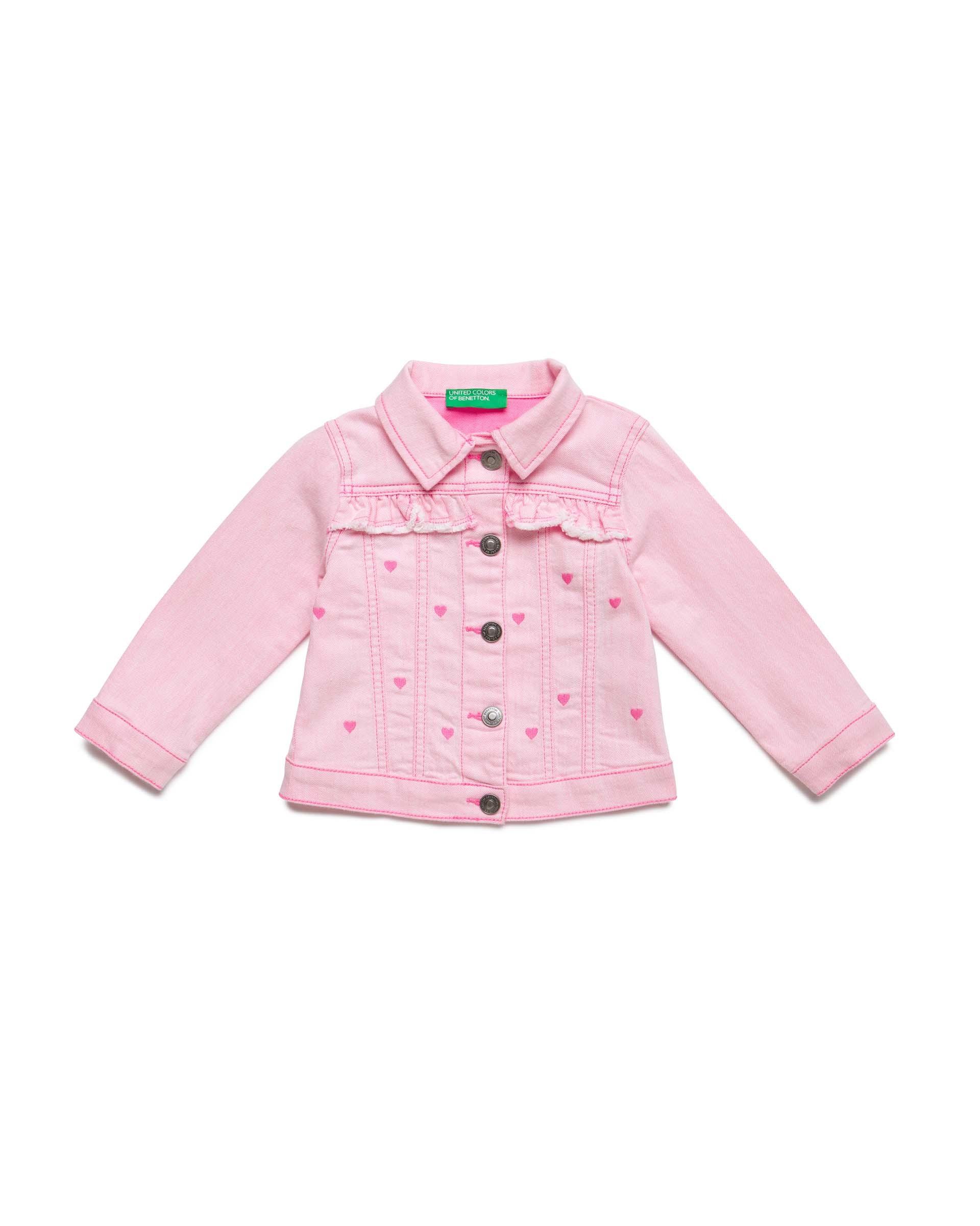 Купить 20P_2PL7532XP_40J, Джинсовая куртка для девочек Benetton 2PL7532XP_40J р-р 80, United Colors of Benetton, Куртки для девочек