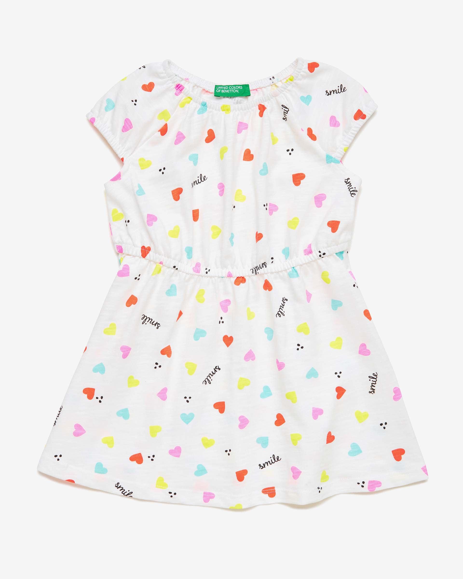 Купить 20P_3PL0F1A6P_65Y, Платье для девочек Benetton 3PL0F1A6P_65Y р-р 80, United Colors of Benetton, Платья для новорожденных