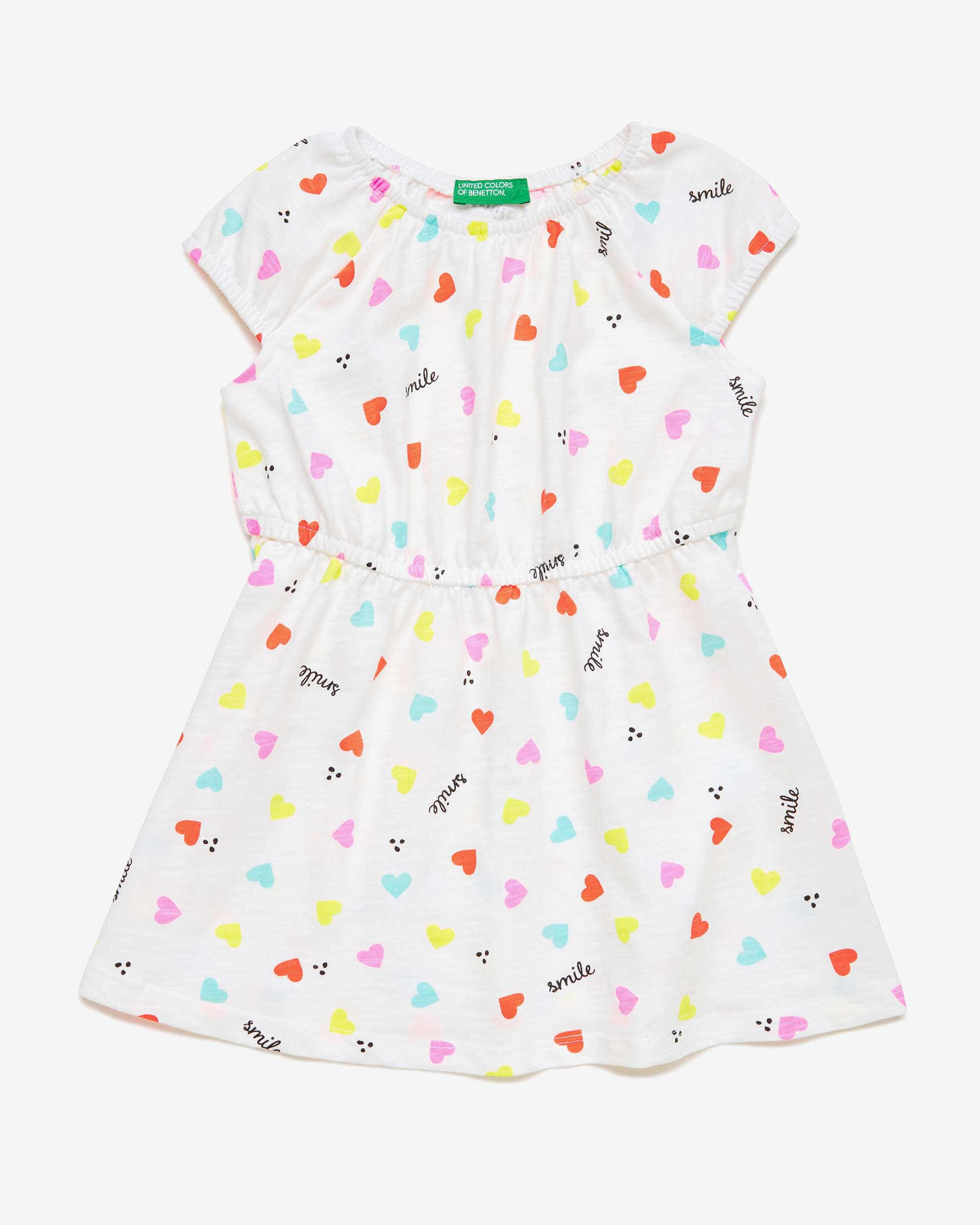 Купить 20P_3PL0F1A6P_65Y, Платье для девочек Benetton 3PL0F1A6P_65Y р-р 92, United Colors of Benetton, Платья для новорожденных