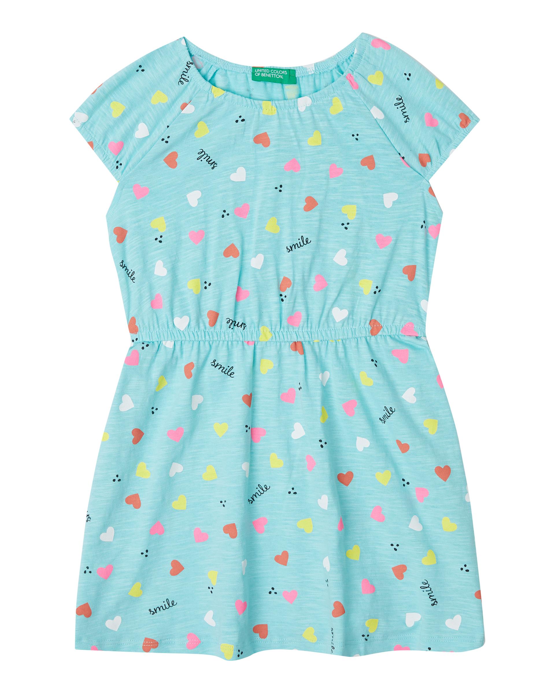 Купить 20P_3PL0F1A6P_65Z, Платье для девочек Benetton 3PL0F1A6P_65Z р-р 104, United Colors of Benetton, Платья для девочек