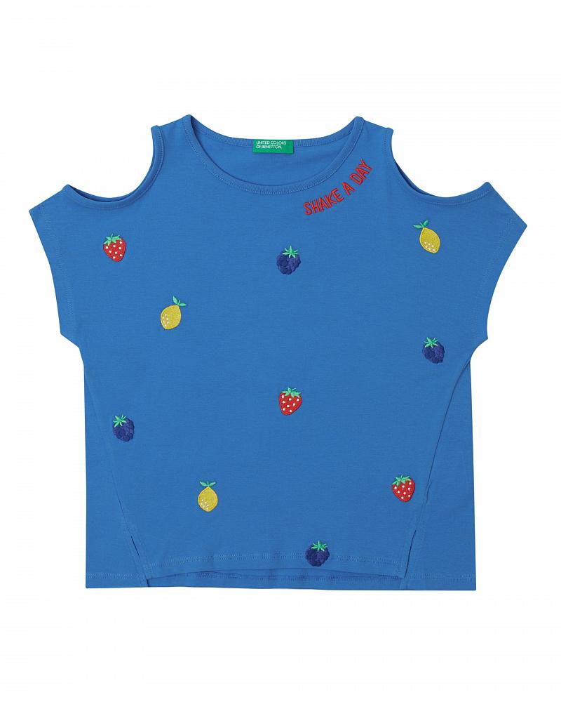 Купить 20P_3096C14LY_08A, Футболка для девочек Benetton 3096C14LY_08A р-р 152, United Colors of Benetton, Футболки для девочек
