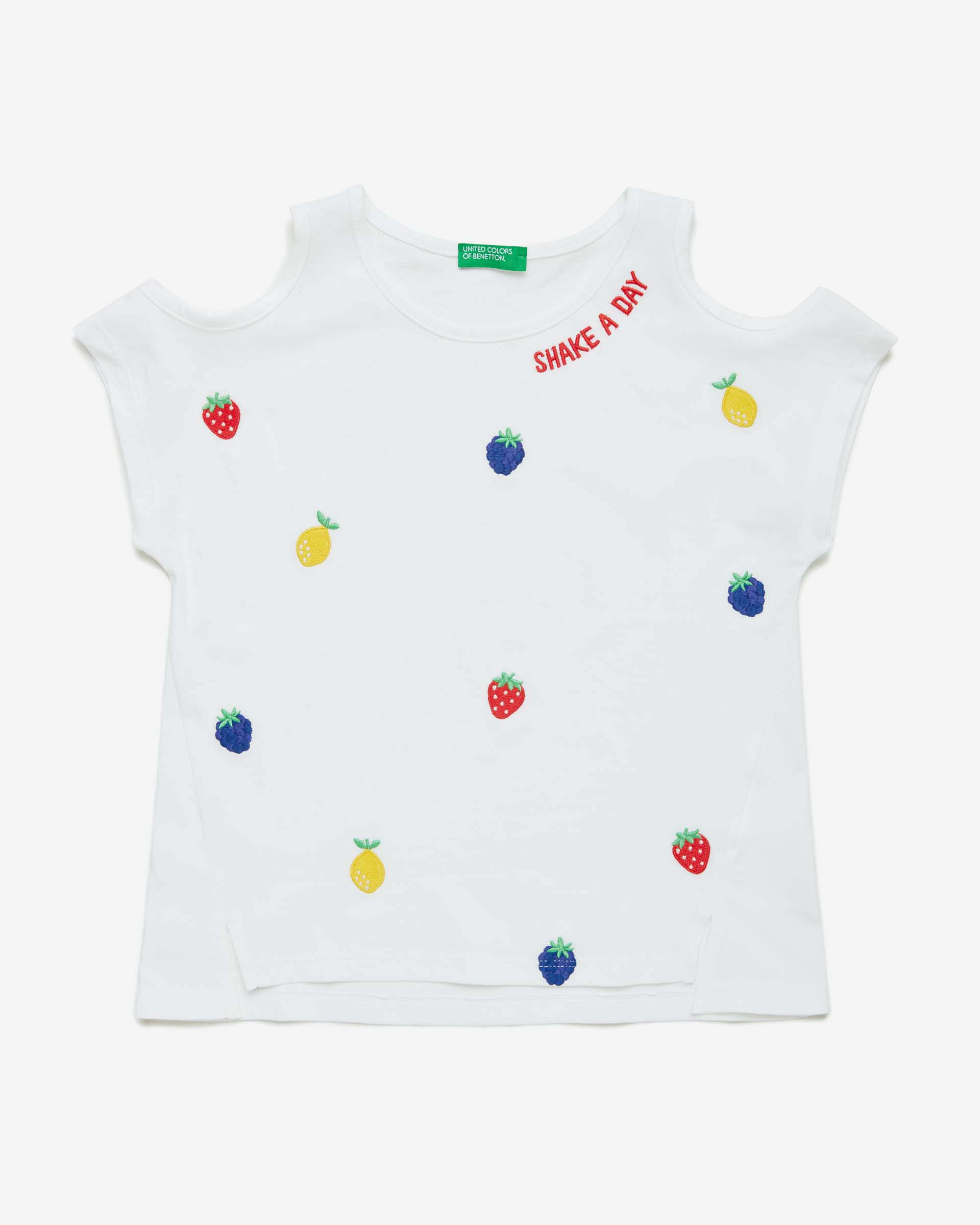 Купить 20P_3096C14LY_101, Футболка для девочек Benetton 3096C14LY_101 р-р 140, United Colors of Benetton, Футболки для девочек