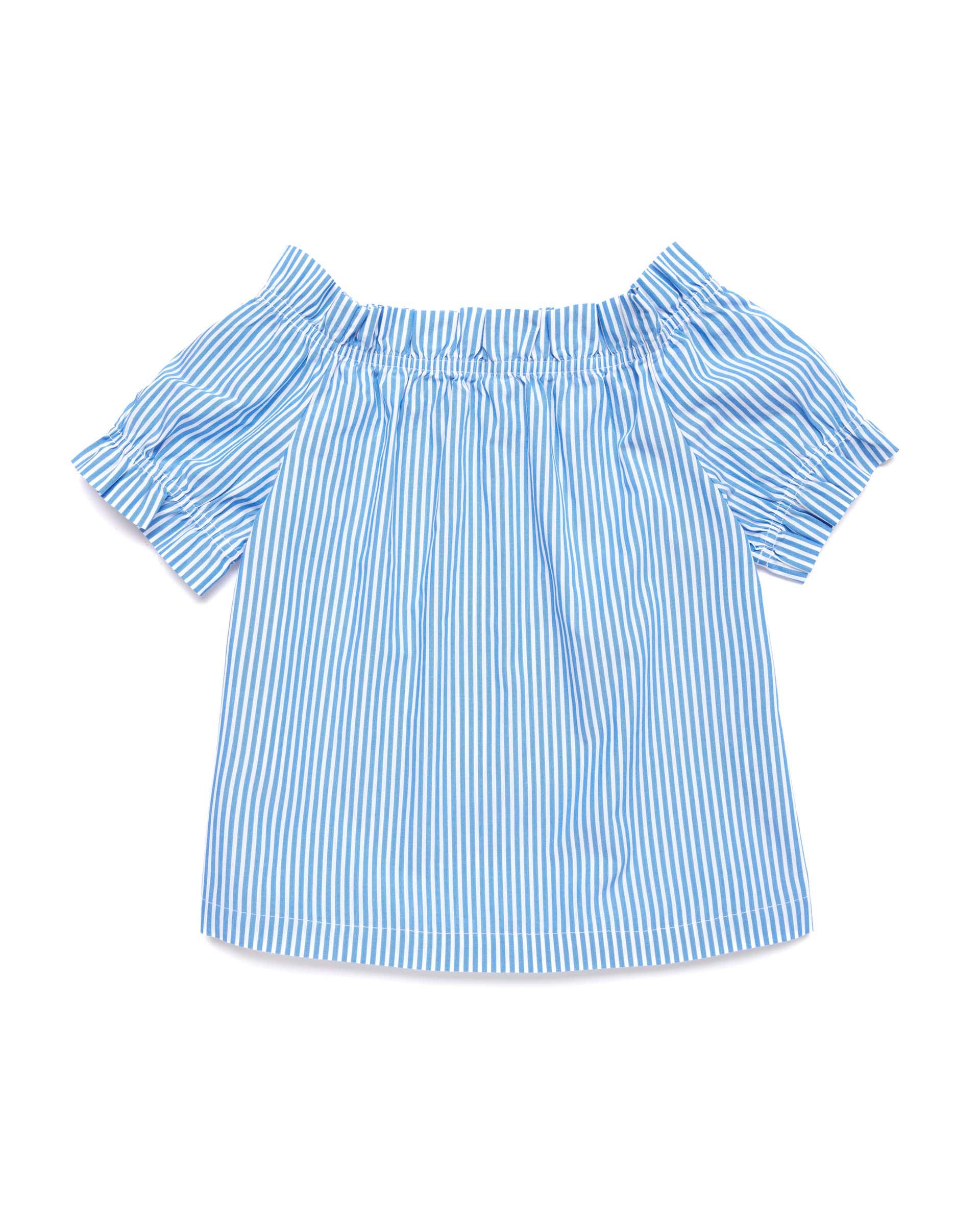 Купить 20P_5OT65QH40_901, Блуза для девочек Benetton 5OT65QH40_901 р-р 128, United Colors of Benetton, Блузки для девочек