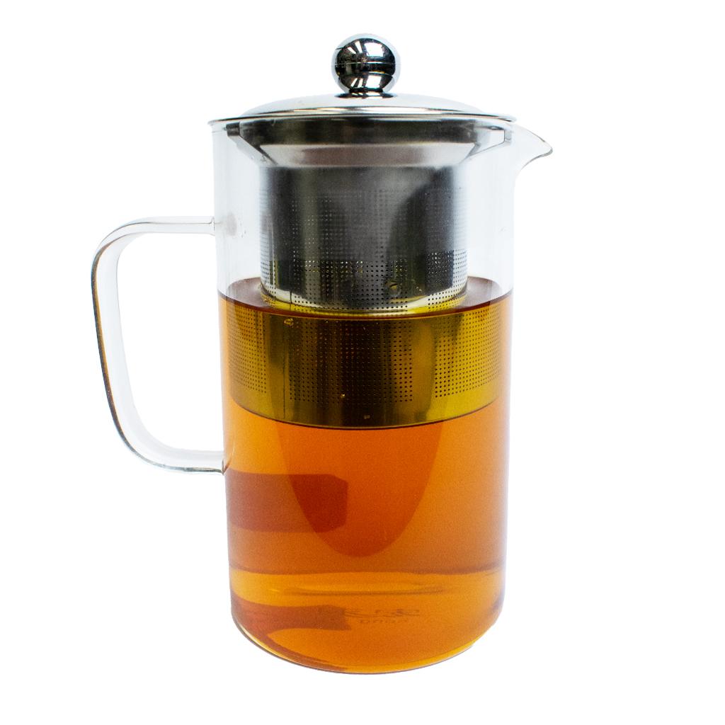 Заварочный чайник из боросиликатного стекла, 800 мл, прозрачный, MARMA MM-TPT-06