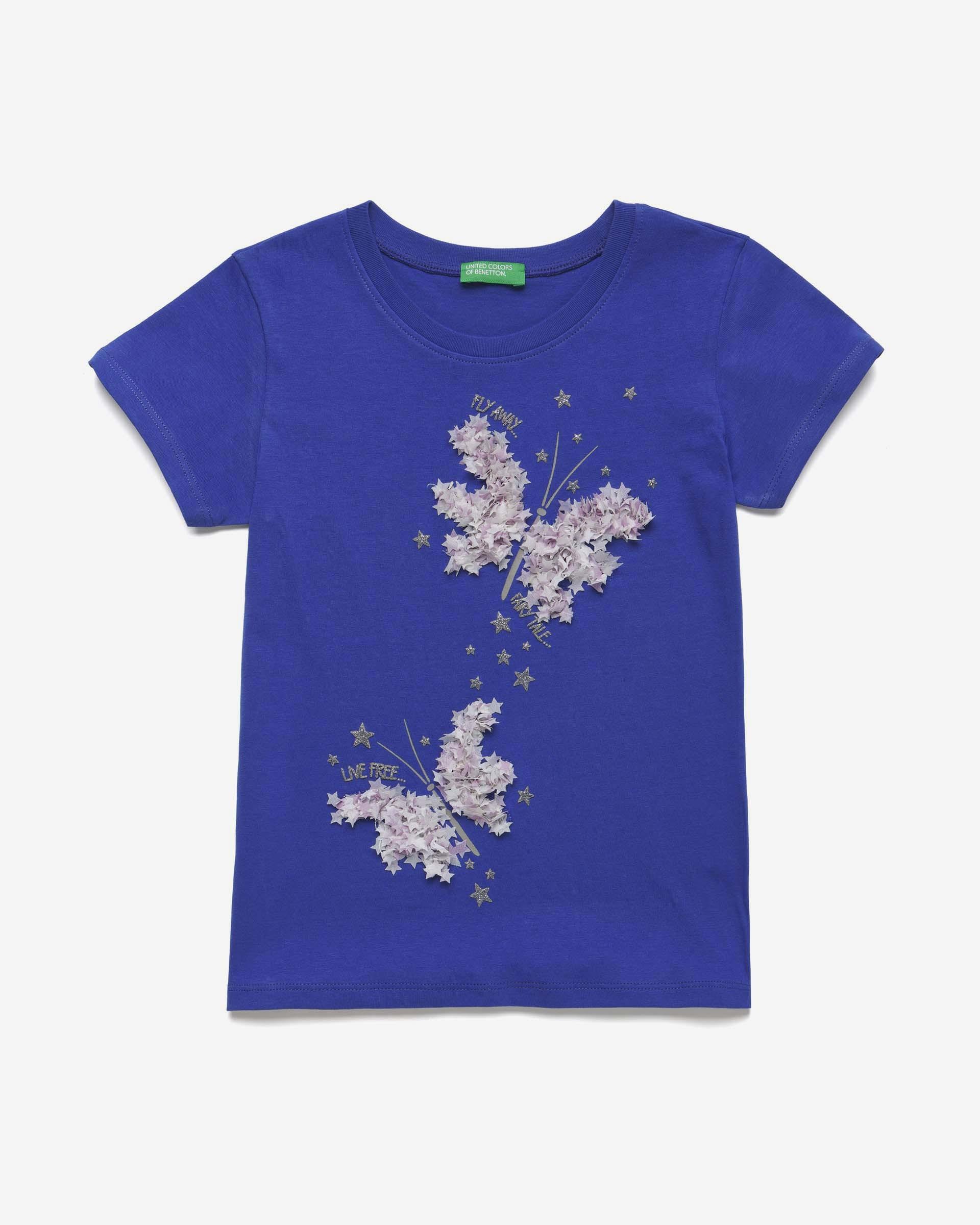 20P_3096C14M5_18Z, Футболка для девочек Benetton 3096C14M5_18Z р-р 80, United Colors of Benetton, Кофточки, футболки для новорожденных  - купить со скидкой