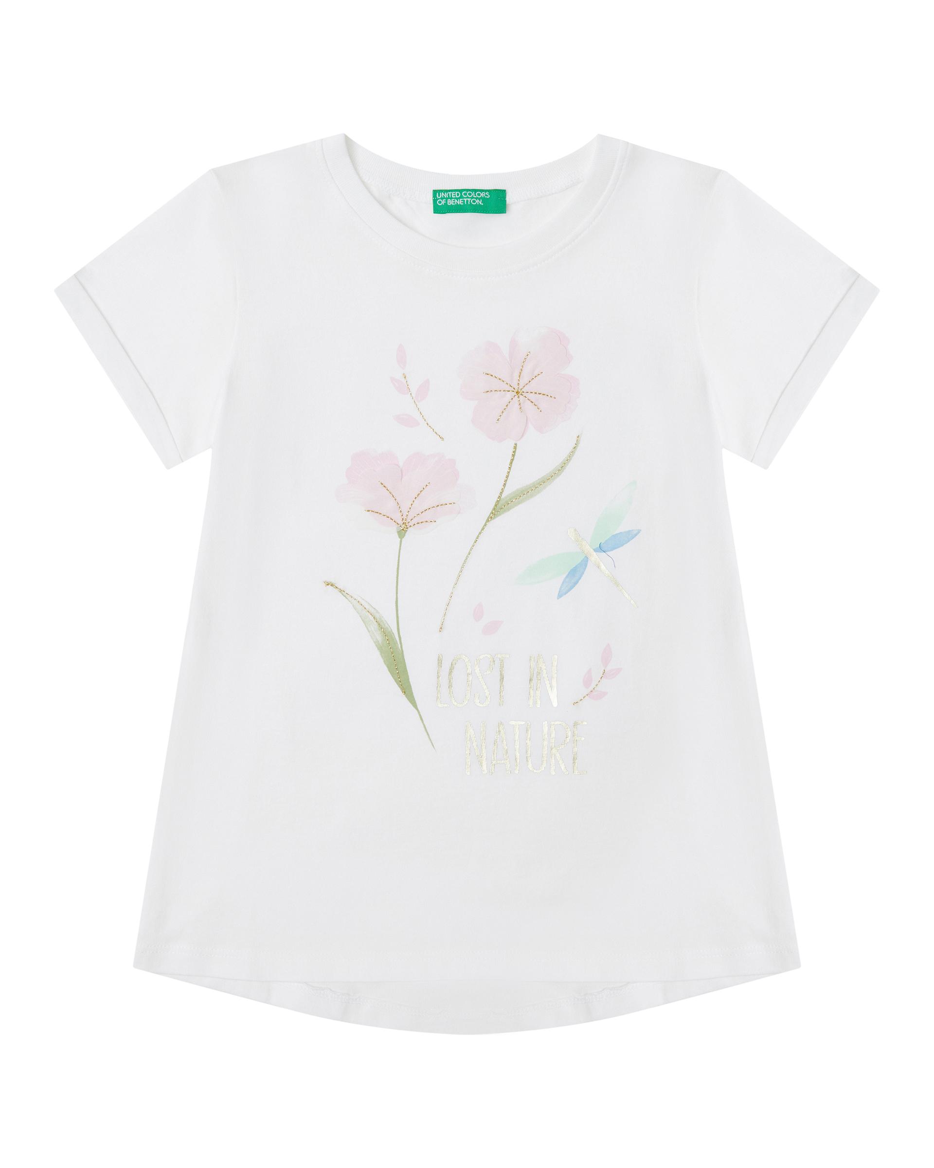 Купить 20P_3096C1BEP_101, Футболка для девочек Benetton 3096C1BEP_101 р-р 92, United Colors of Benetton, Кофточки, футболки для новорожденных