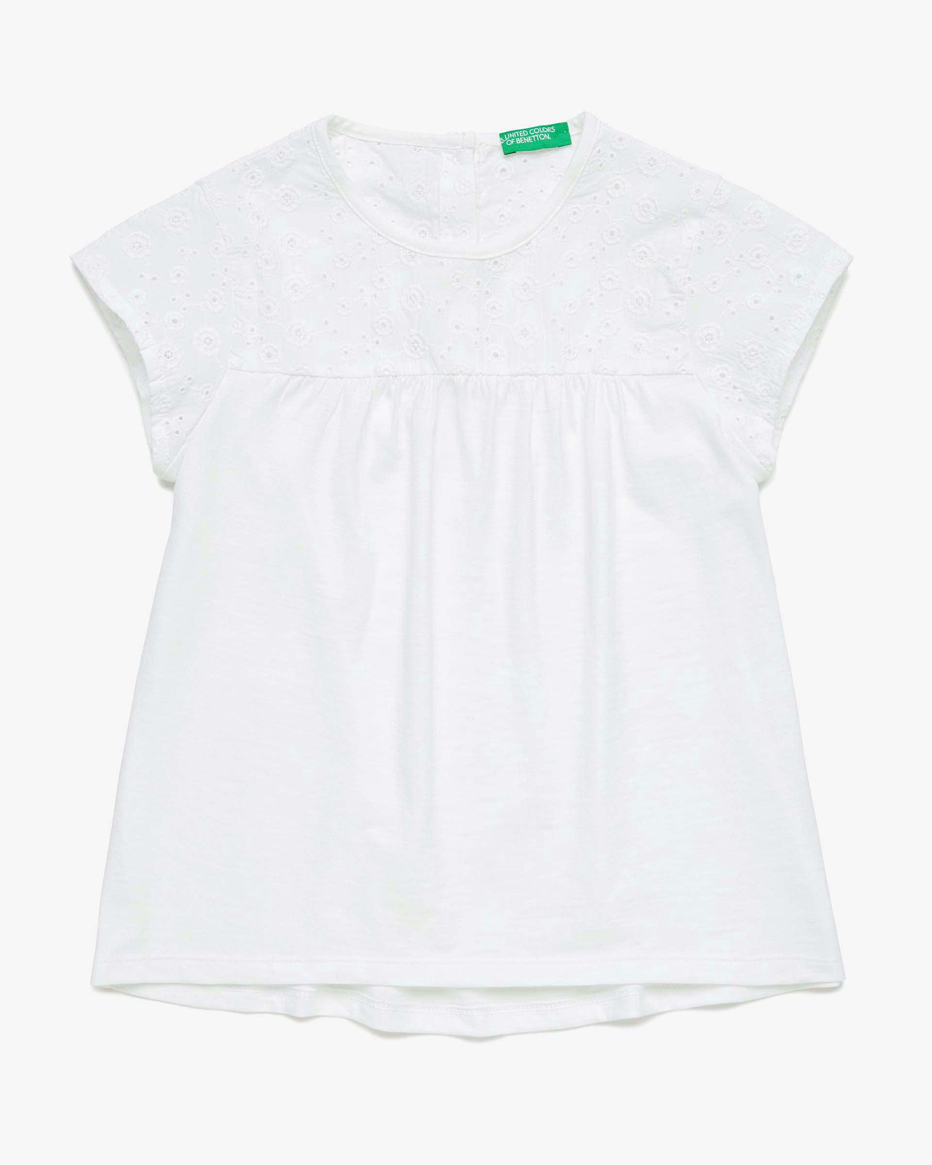 Купить 20P_3BVXC14LT_101, Футболка для девочек Benetton 3BVXC14LT_101 р-р 170, United Colors of Benetton, Футболки для девочек
