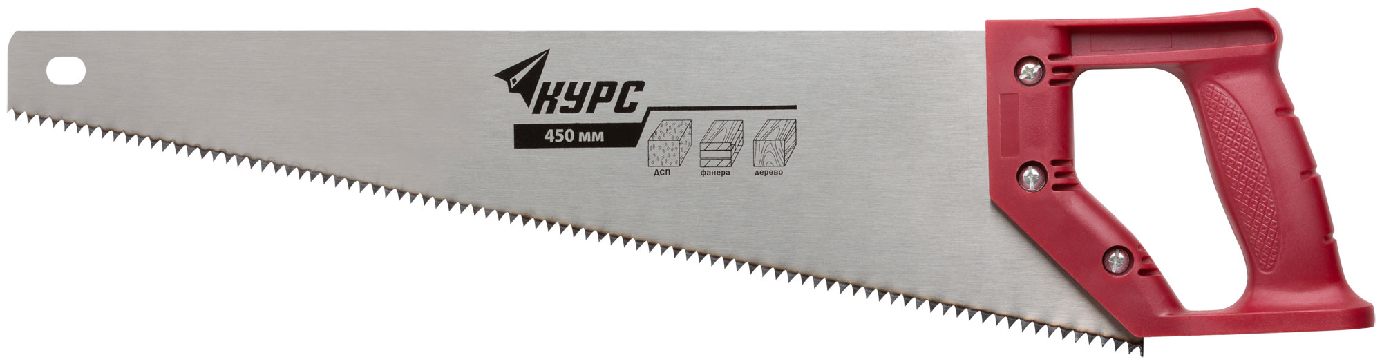 Ножовка по дереву, 450 мм, 7 TPI, КУРС 40312