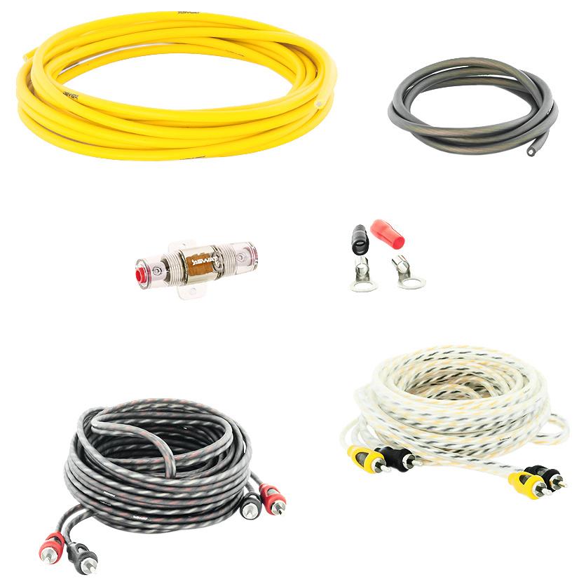 Комплект проводов для подключения усилителя Swat