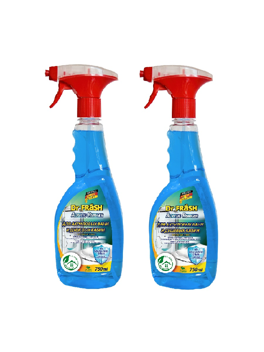 Чистящее средство Dr.Frash для акриловых ванн акриловые ванны 750 мл 2 шт фото