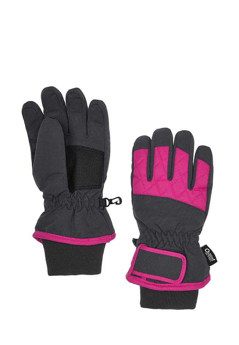 Перчатки для девочек Oldos Сидли серый/розовый, р. 15