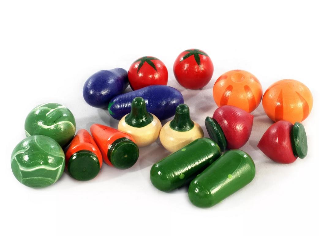 Набор Овощи крашенные, 16 штук