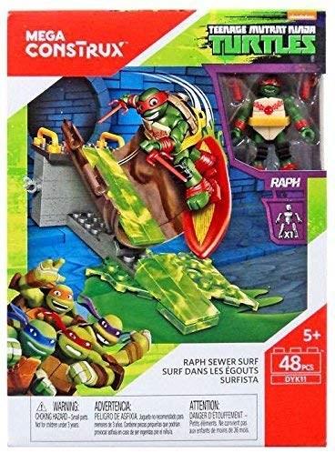 Купить Конструктор Набор для серфинга Черепашки-ниндзя (Mega Construx Teenage Mutant Ninja Turtles Raph Sewer Surf Building Set) 48 шт, Конструктор Mega Construx Teenage Mutant Ninja Turtles Raph Sewer Surf Building Set, 48 эл, Конструкторы пластмассовые
