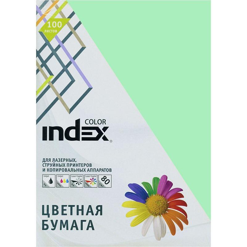 Бумага цветная Index Color, 80гр, А4, светло-зеленый (65), 100л фото