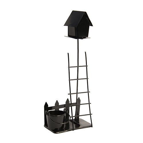 Миниатюра Металлическая садовая композиция, черный 7*18см Астра 7717647