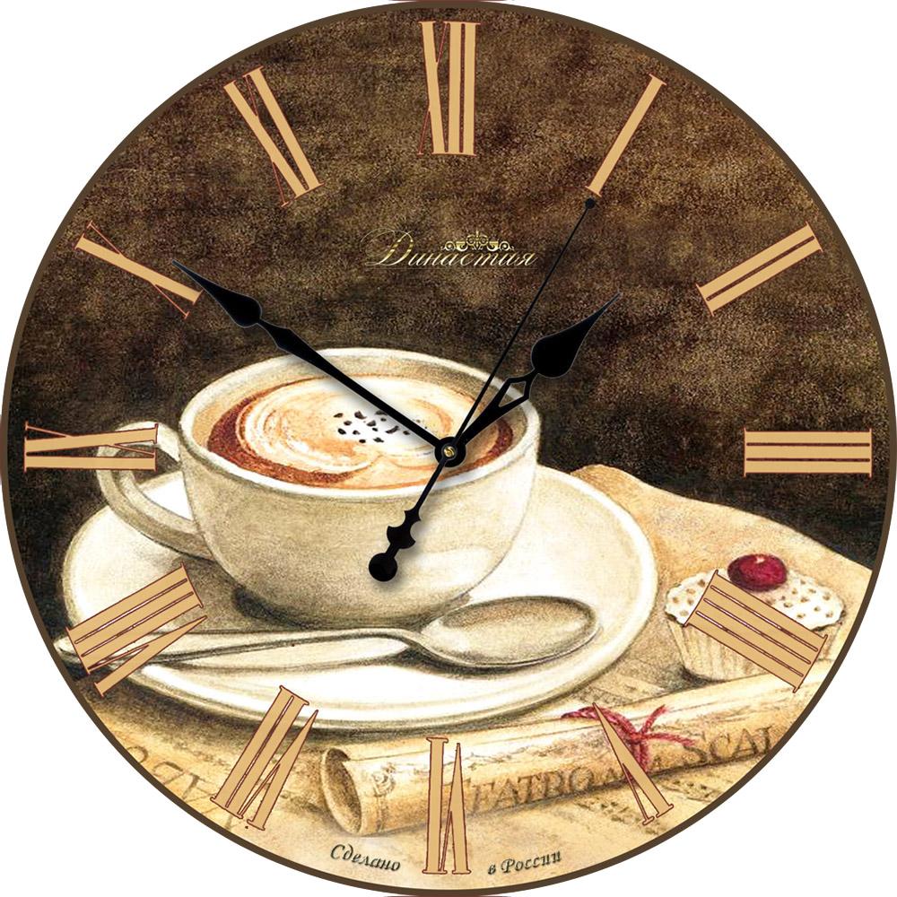 Настенные часы Династия 33x33x4 см Кофе 01-007