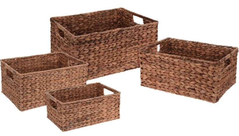 Набор плетёных корзинок виллоу (4 штуки), koopman,