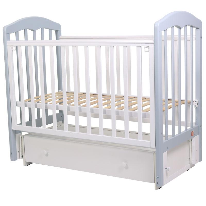 Кровать детская Топотушки Сильвия 7 серый/белый, 120х60