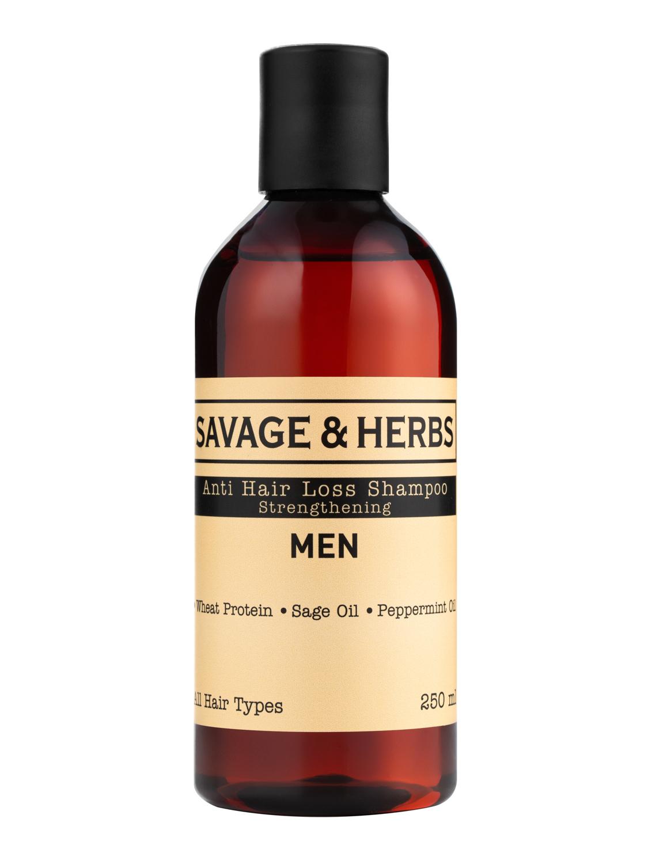 Купить Укрепляющий мужской шампунь Savage&Herbs против выпадения волос, 250 мл