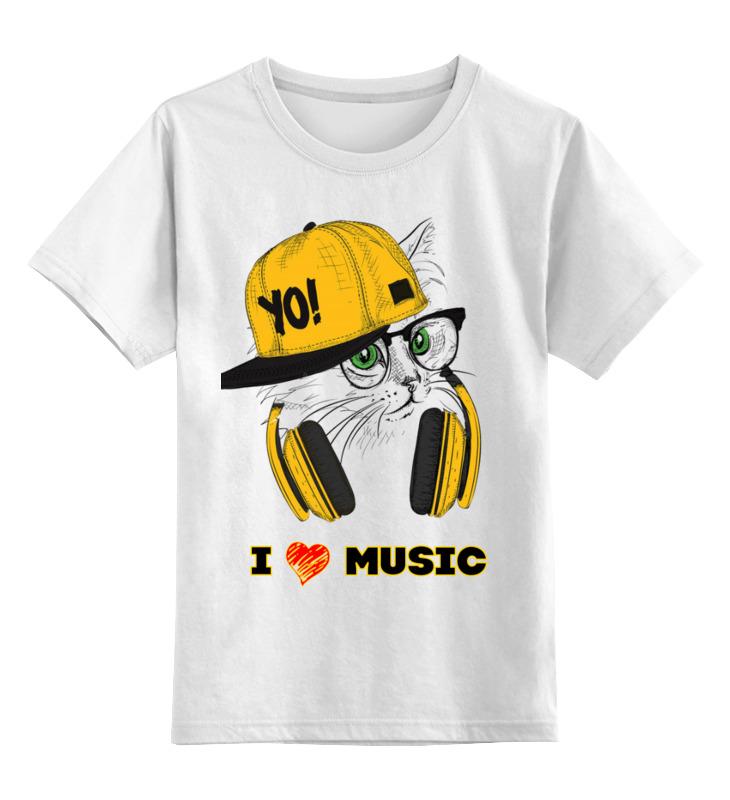 Детская футболка Printio котэ цв.белый р.104 0000003433992 по цене 790