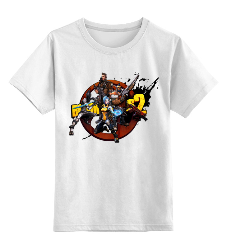 Детская футболка Printio Borderlands цв.белый р.164 0000003454495 по цене 890