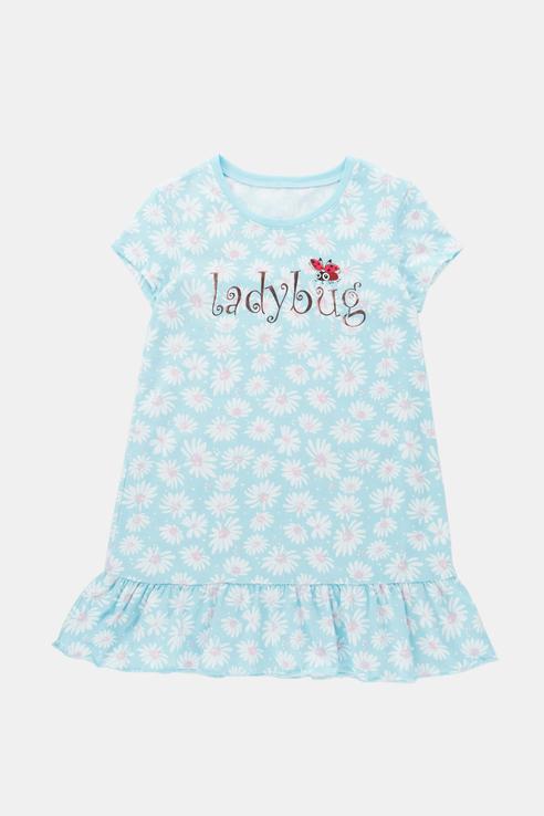 Купить Трикотажная свободная ночная сорочка Ennergiia 21-14084ПП-Э Голубой 98,