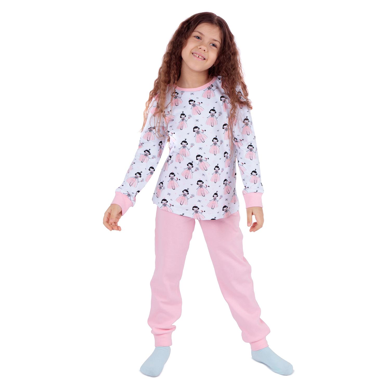 Купить ЛКЗ21206103ин17У, Пижама джемпер/брюки Leader Kids, цвет: розовый р.152,
