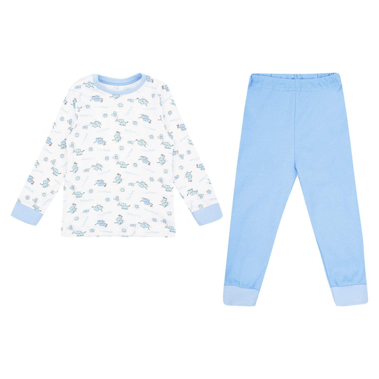 Купить ЛКЗ20206104ин43, Пижама джемпер/брюки Leader Kids, цвет: белый/голубой р.86,