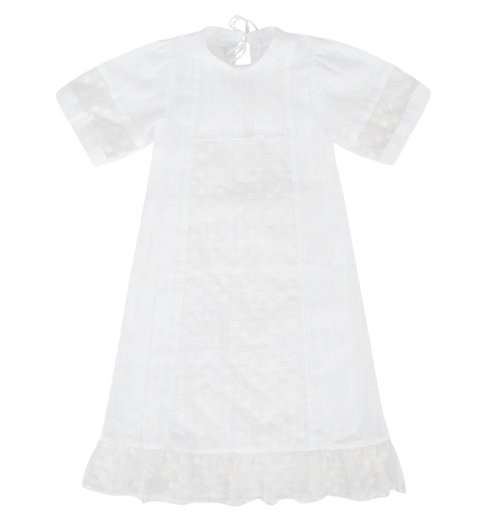 Купить ЗМЛ745500668те01, Крестильная рубашка Зайка Моя Крестильные наборы стандарт, цвет: белый р.68, Зайка моя,