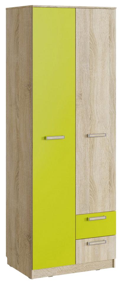 Шкаф для одежды с ящиками Silva Акварель