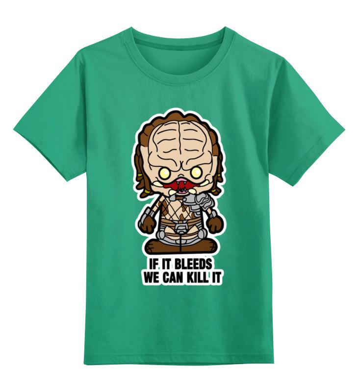 Купить 0000003450772, Детская футболка Printio Хищник цв.зеленый р.152,