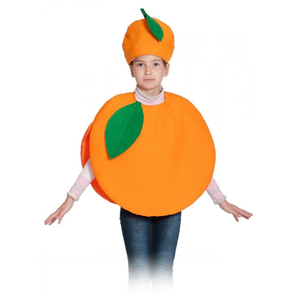 Карнавальный костюм Карнавалофф Фрукт, цв. оранжевый р.104