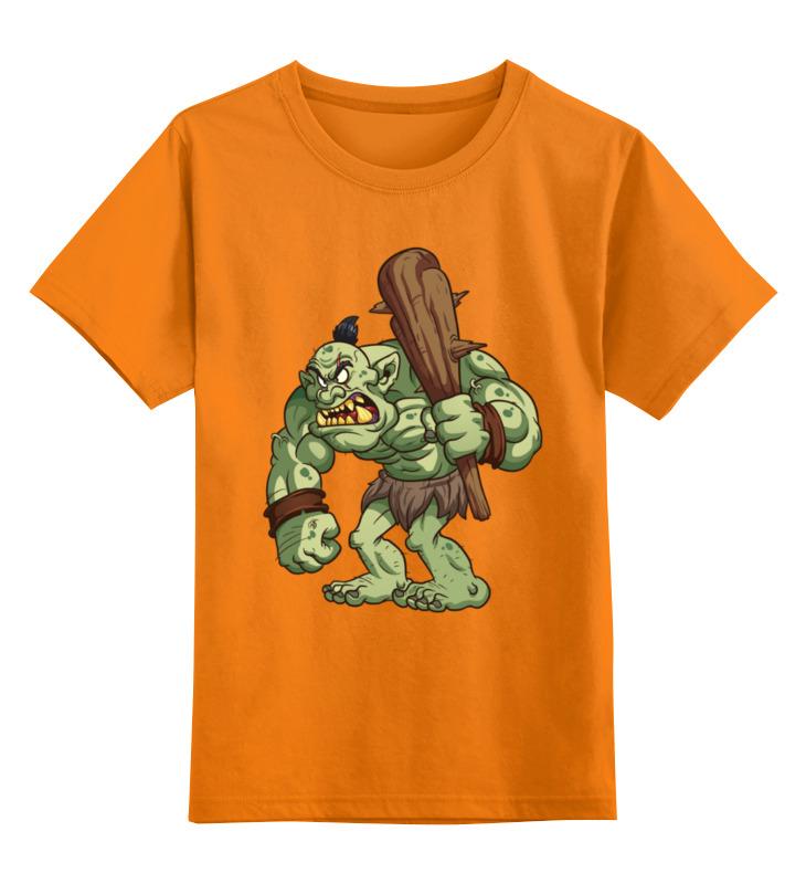 Купить 0000003455685, Детская футболка Printio Гоблин цв.оранжевый р.152,