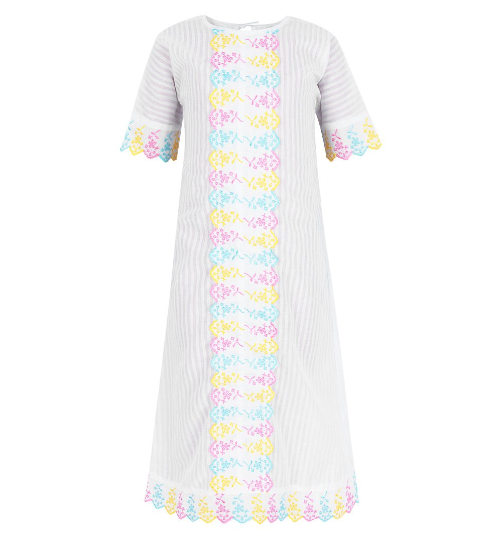 Купить ЗВЛ7455001те01, Крестильная рубашка Звездочка, цвет: белый р.80,