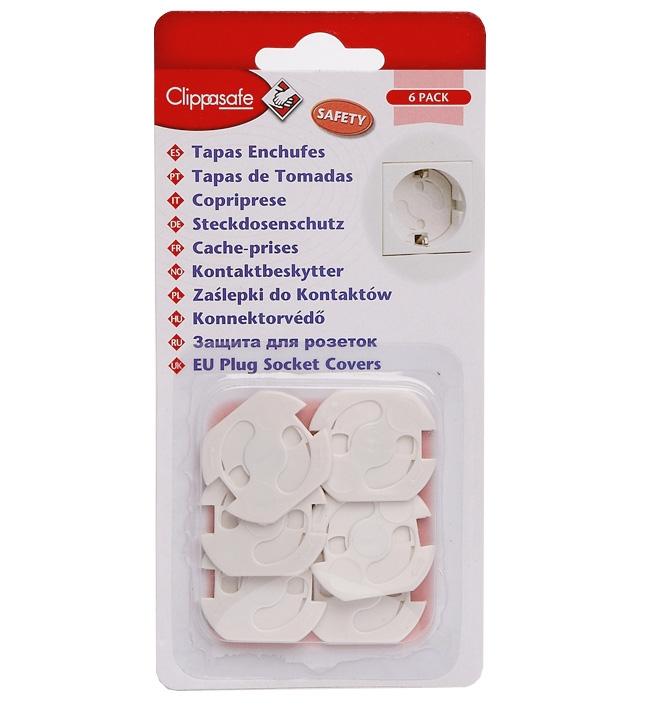 Защита для розеток Clippasafe цвет белый 6 шт