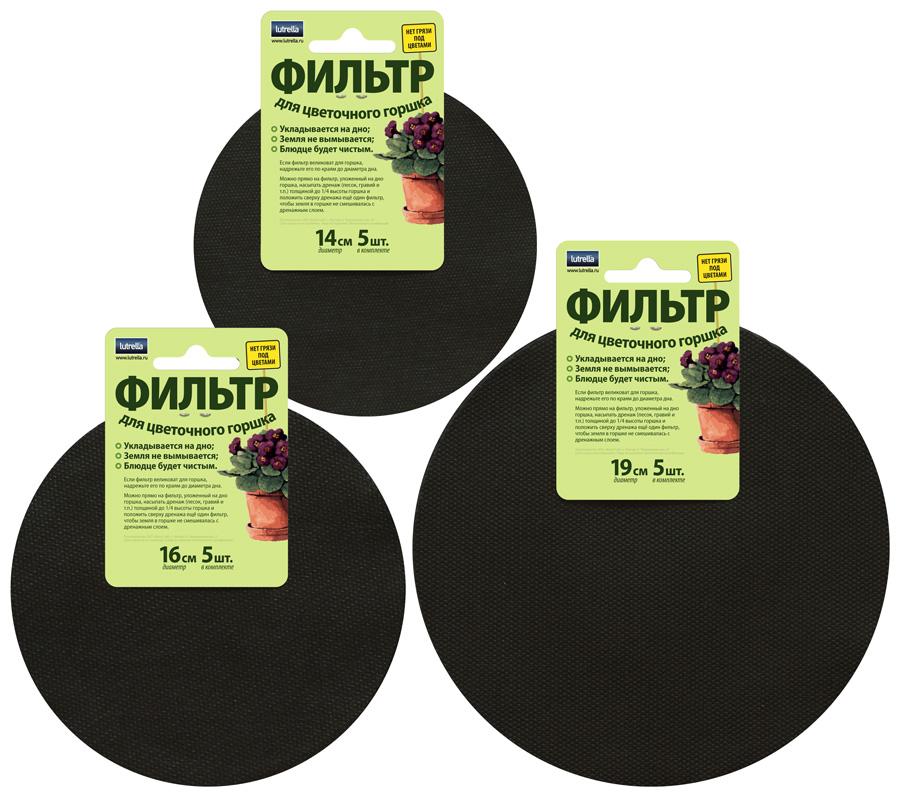 Фильтр для цветочного горшка Lutrella набор №104