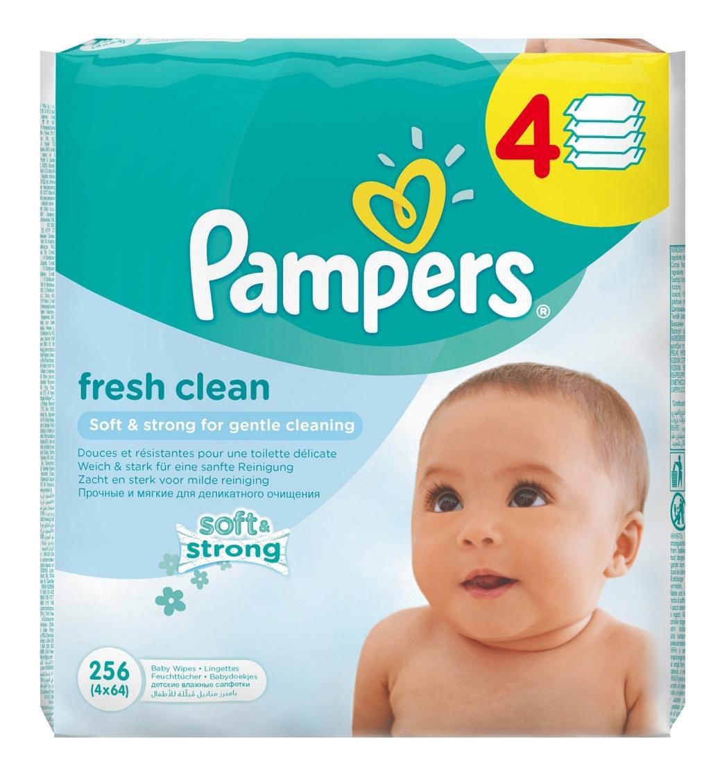 Купить Baby Fresh Clean, Детские влажные салфетки Pampers, 256 шт.